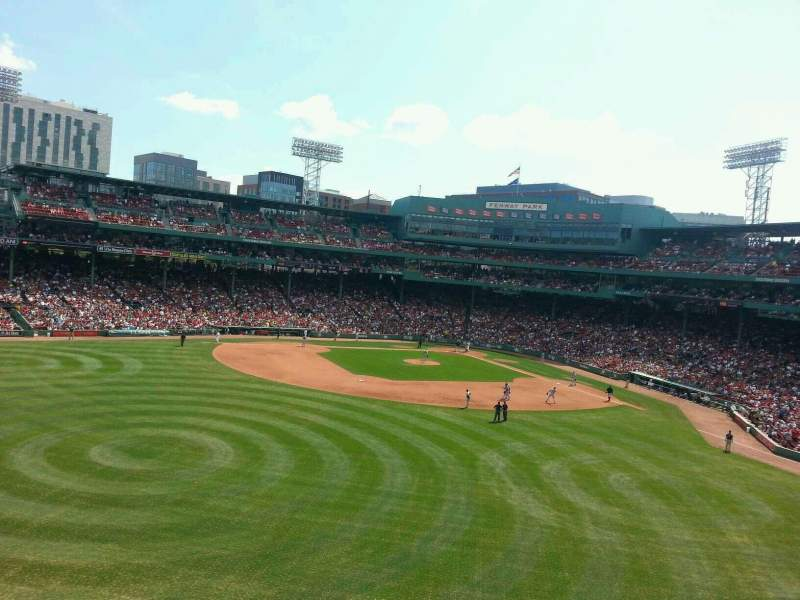 Seating view for Fenway Park Section green monster 8 Row 2 Seat 7
