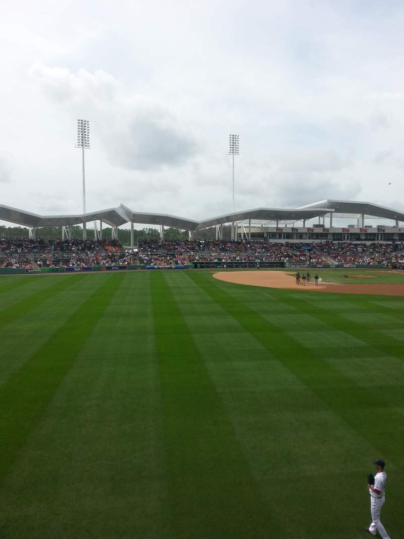 Seating view for JetBlue Park Section Monster 7 Row 1
