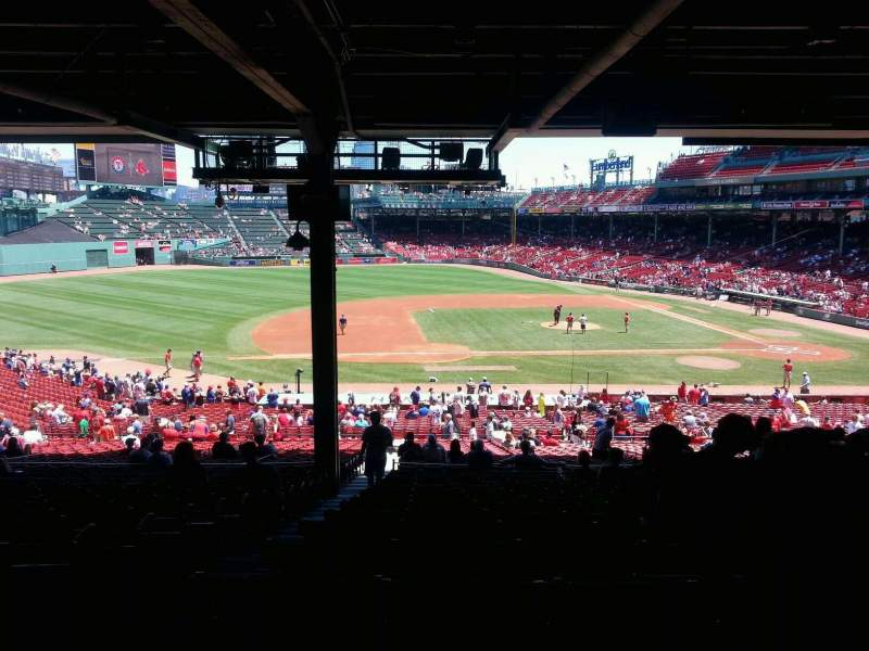 Seating view for Fenway Park Section grand stand 26 Row 18 Seat 23