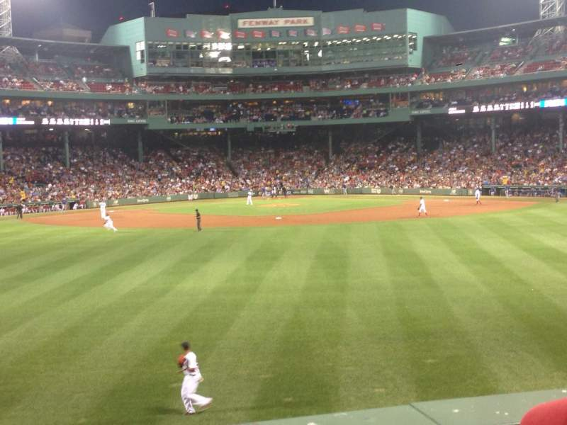 Seating view for Fenway Park Section Bleacher 35 Row 2 Seat 5
