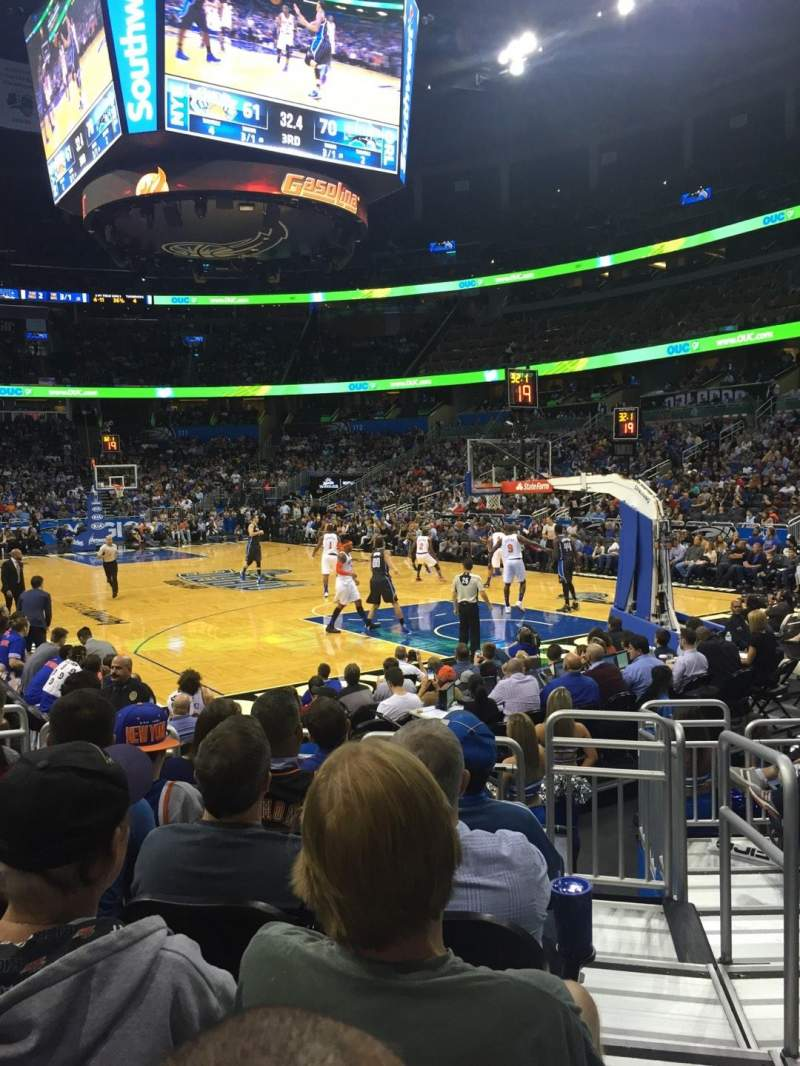 Seating view for Amway Center Section 103 Row 6 Seat 1