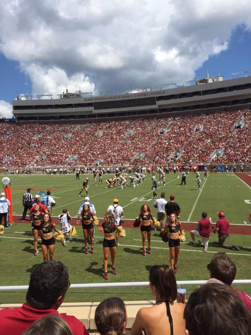 Seating view for Bobby Bowden Field at Doak Campbell Stadium Section 29 Row 6 Seat 15