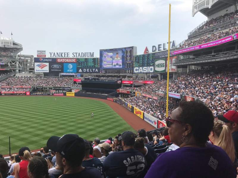 Seating view for Yankee Stadium Section 211 Row 13 Seat 20