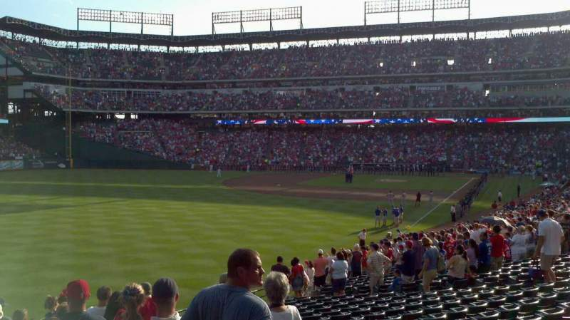 Seating view for Globe Life Park in Arlington Section 11 Row 21 Seat 3