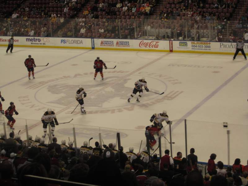 Seating view for BB&T Center Section 133 Row 27 Seat 1