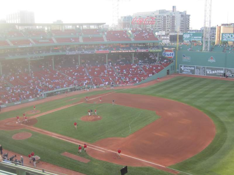 Seating view for Fenway Park Section Pavilion Box 11 Row B Seat 5