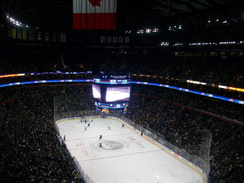 Seating view for KeyBank Center Section 301 Row 13 Seat 8