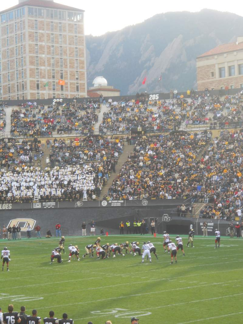 Seating view for Folsom Field Section 120 Row 19 Seat 1