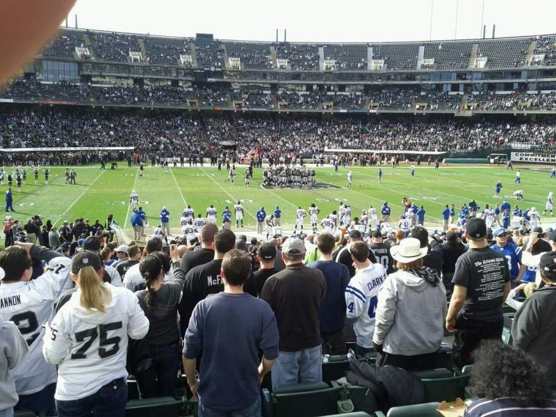 Seating view for Oakland Alameda Coliseum Section 143 Row 23 Seat 5