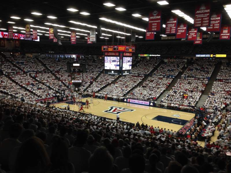 Seating view for McKale Center Section 1 Row 29A