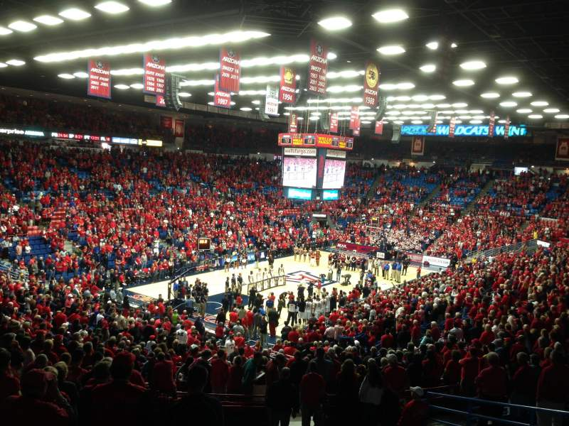 Seating view for McKale Center Section 7 Row 29