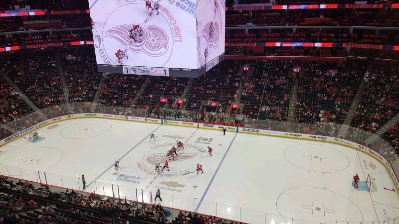 Seating view for Little Caesars Arena Section 210 Row 1 Seat 7