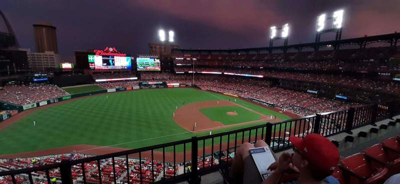 Seating view for Busch Stadium Section 359 Row 2 Seat 15