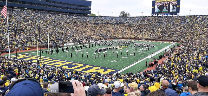 Seating view for Michigan Stadium Section 8 Row 56 Seat 2