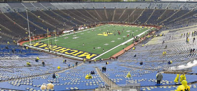 Seating view for Michigan Stadium Section 8 Row 96