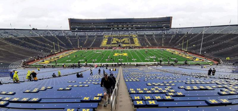 Seating view for Michigan Stadium Section 23 Row 77