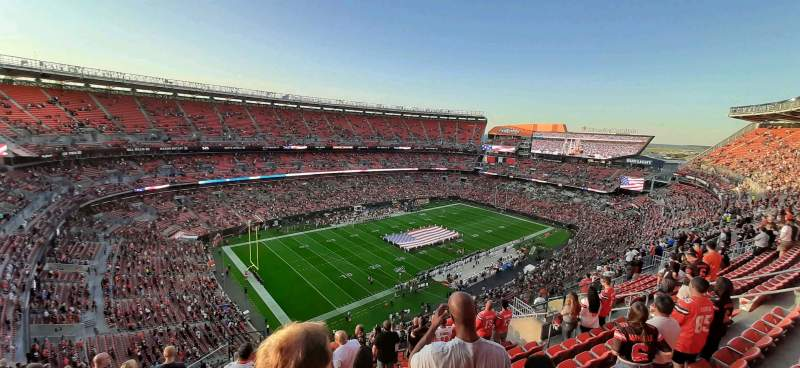 Seating view for FirstEnergy Stadium Section 503 Row 17 Seat 2