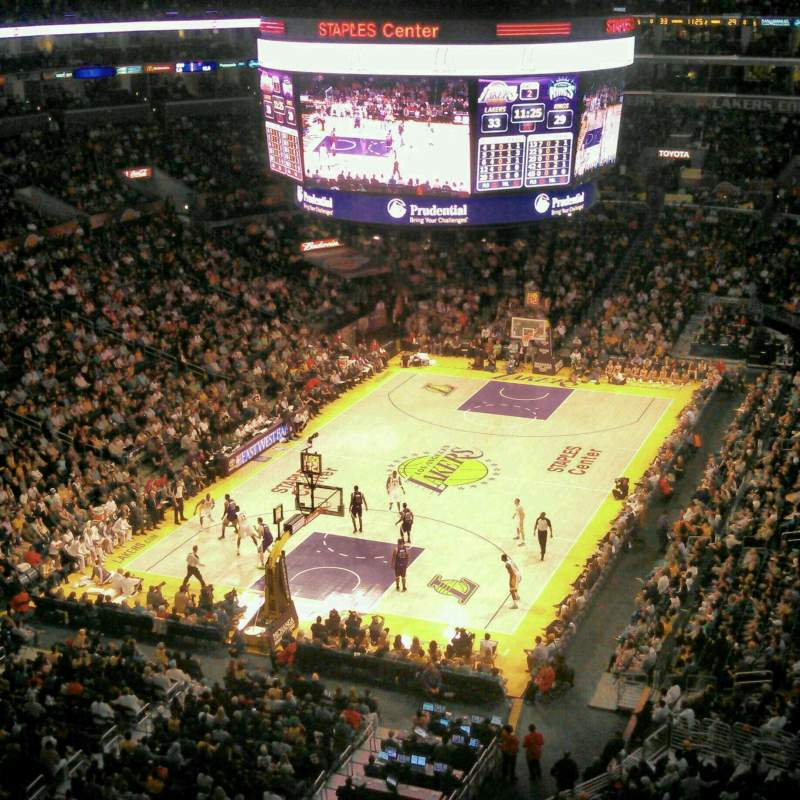 Seating view for Staples Center Section 324 Row 1 Seat 10