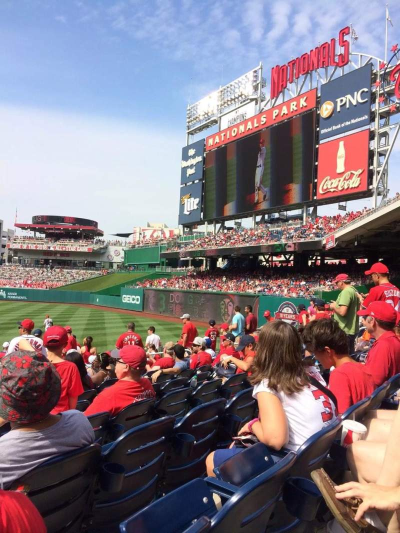 Seating view for Nationals Park Section 136