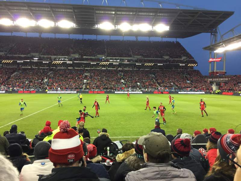 Seating view for BMO Field Section 123 Row 5 Seat 6