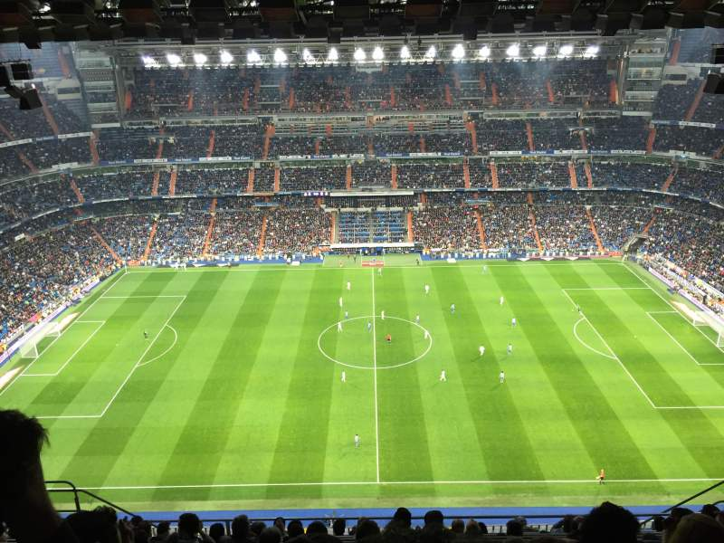 Seating view for Santiago Bernabéu Stadium Section 601 Row 11 Seat 9