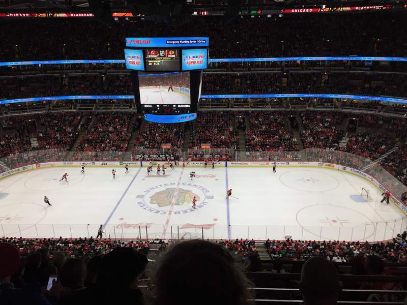 Seating view for United Center Section 317 Row 2 Seat 11