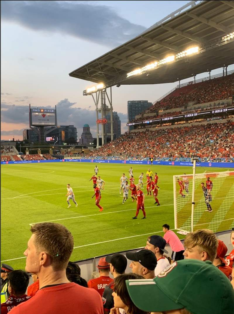 Seating view for BMO Field Section 116 Row 4 Seat 9