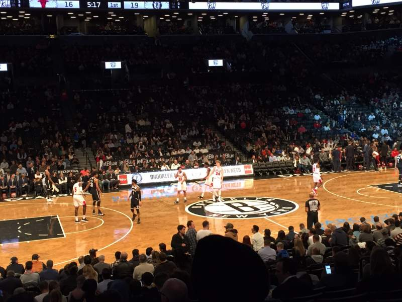 Seating view for Barclays Center Section 25 Row 16 Seat 11