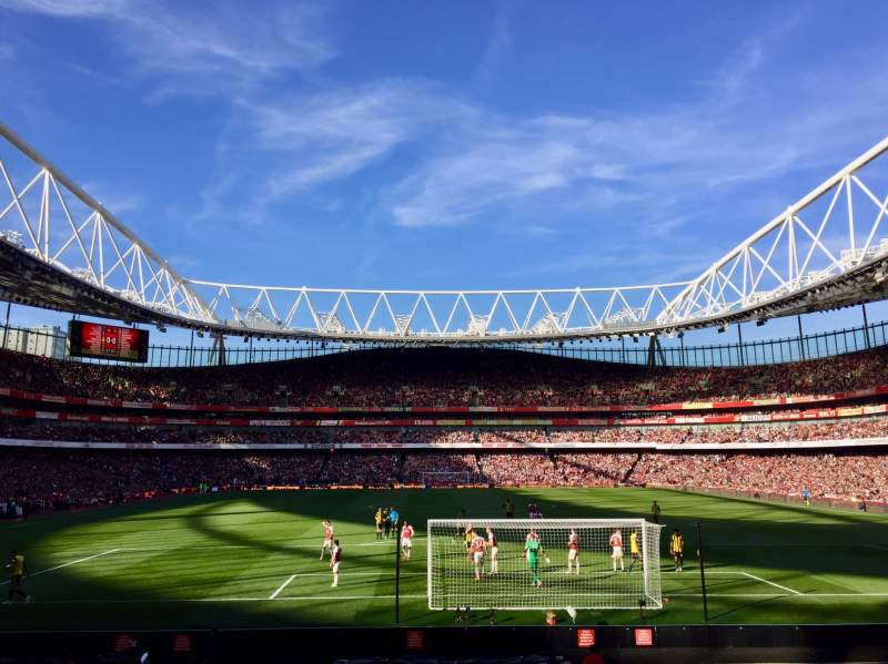 Seating view for Emirates Stadium Section 25 Row 14