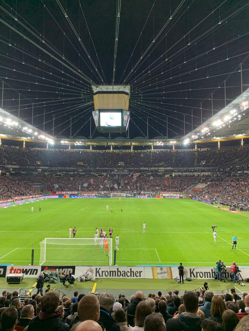 Seating view for Commerzbank-Arena Section 16A Row 18 Seat 12