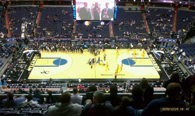Seating view for Verizon Center Section 417 Row k Seat 7