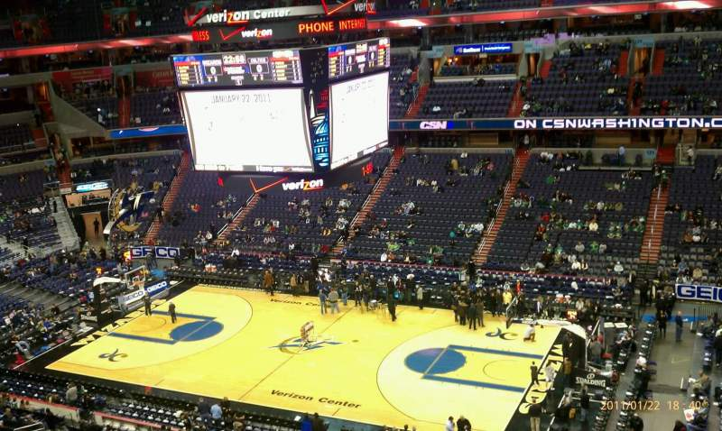 Seating view for Verizon Center Section 419 Row A Seat 1