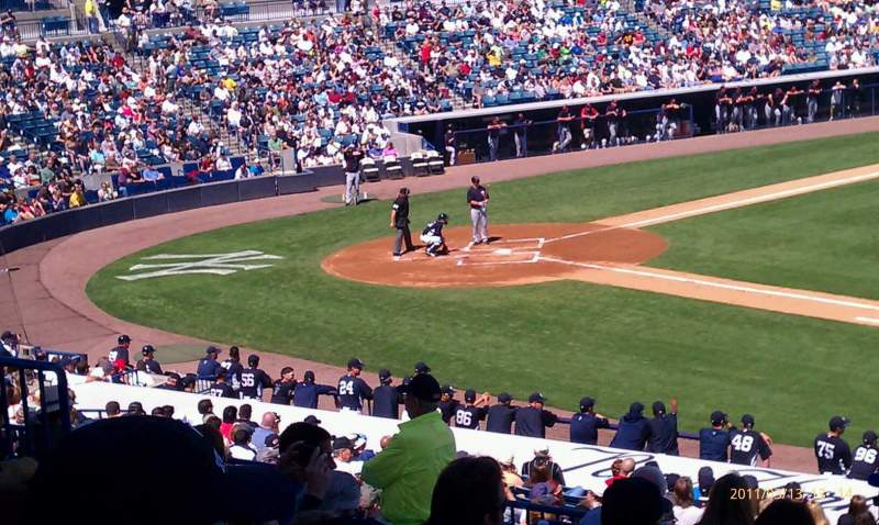 Seating view for George M. Steinbrenner Field Section 205 Row j Seat 9