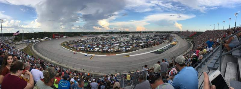 Seating view for Darlington Raceway Section Pearson Q Row 34 Seat 3