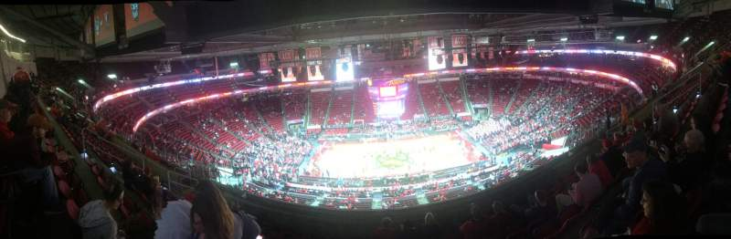 Seating view for PNC Arena Section 324 Row J Seat 11