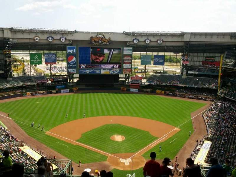 Seating view for Miller Park Section 423 Row 20 Seat 12