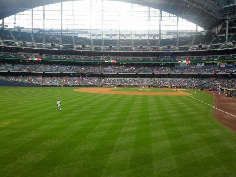 Seating view for Miller Park Section Friday's Front Row Row 102 Seat 2