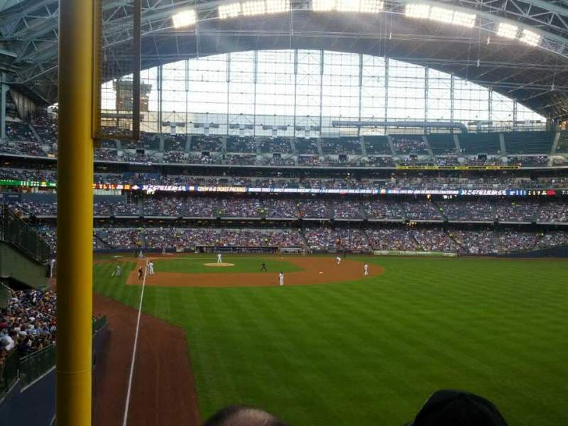 Seating view for Miller Park Section 205 Row 4 Seat 1