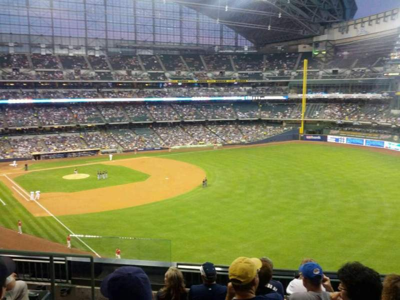Seating view for Miller Park Section 307 Row 6 Seat 3