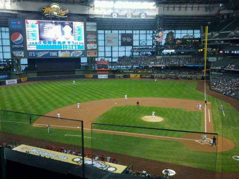 Seating view for Miller Park Section 335 Row 2 Seat 11
