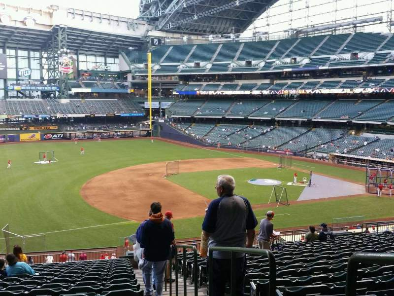 Seating view for Miller Park Section 227 Row 18 Seat 1