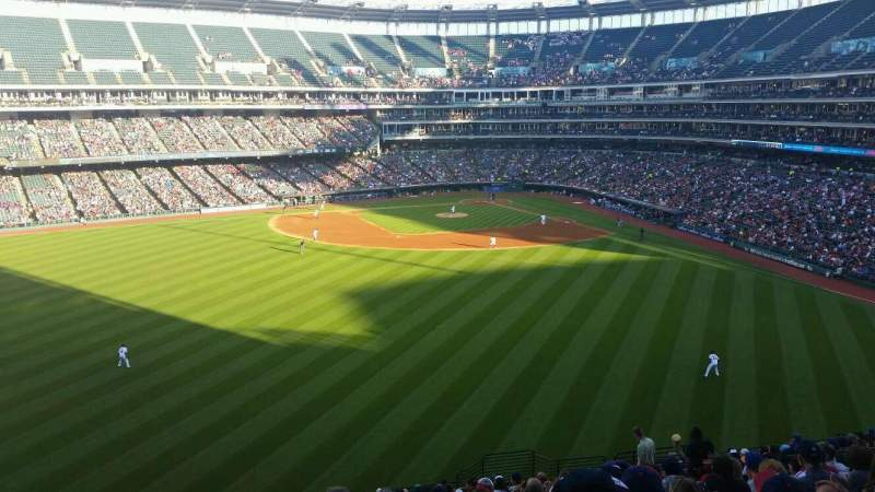 Seating view for Progressive Field Section 183 Row y Seat 16
