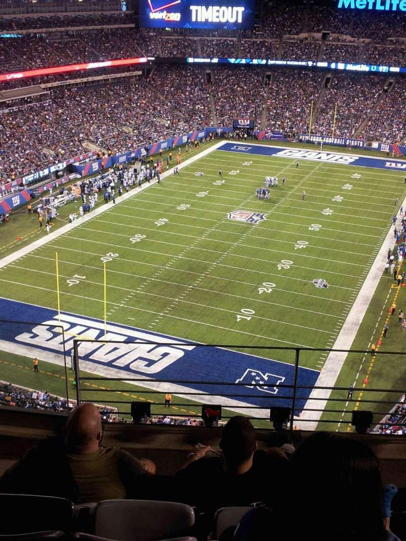 Seating view for MetLife Stadium