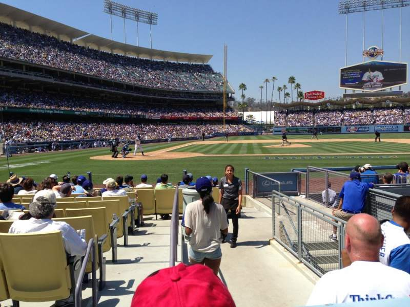 Seating view for Dodger Stadium Section 12FD Row B Seat 9