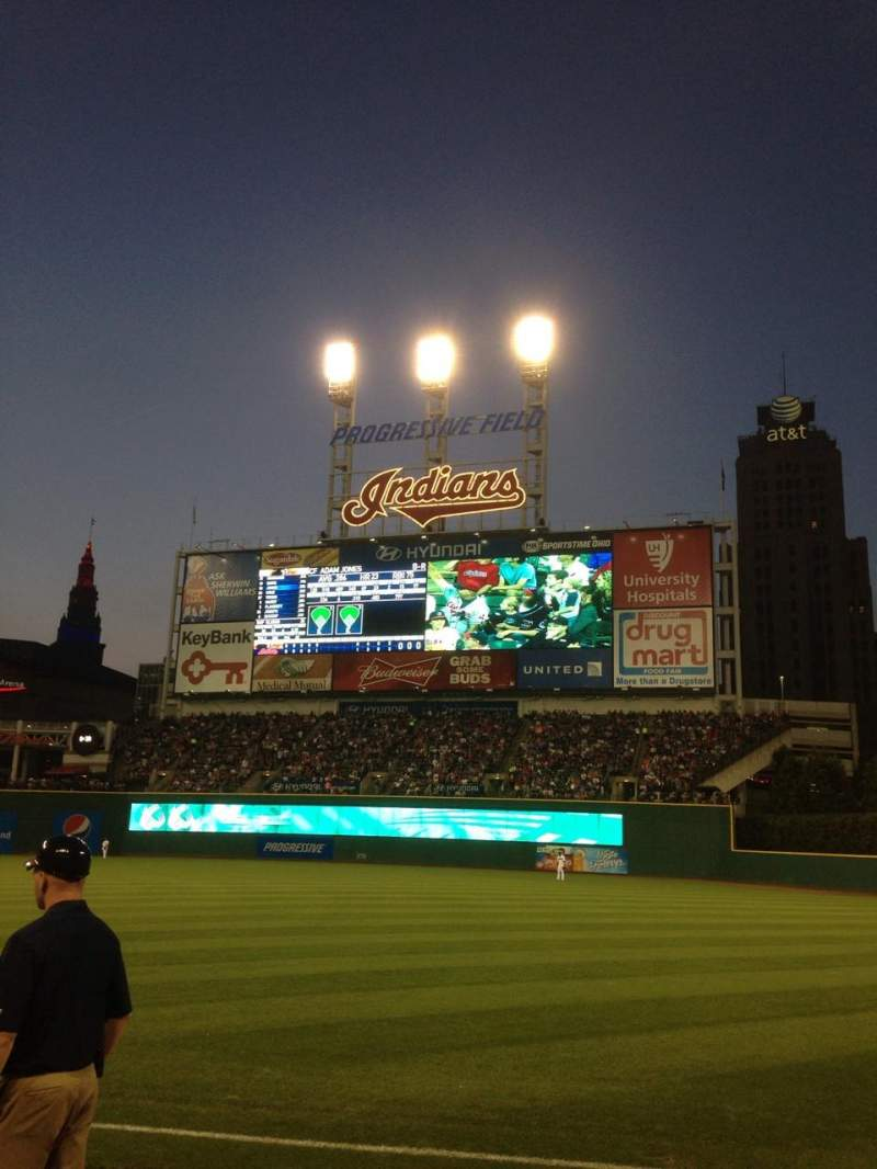 Seating view for Progressive Field Section 129 Row C Seat 9