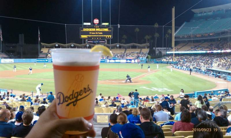 Seating view for Dodger Stadium Section mvp5 Row s Seat 12
