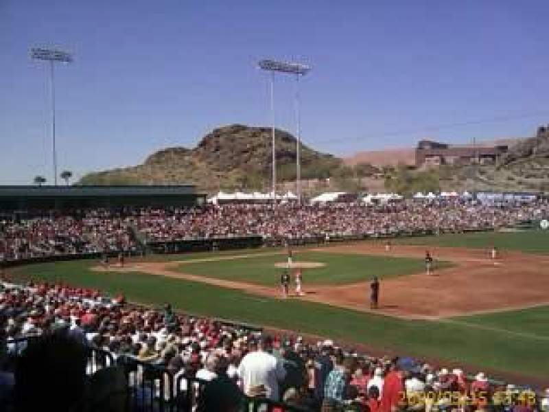 Seating view for Tempe Diablo Stadium