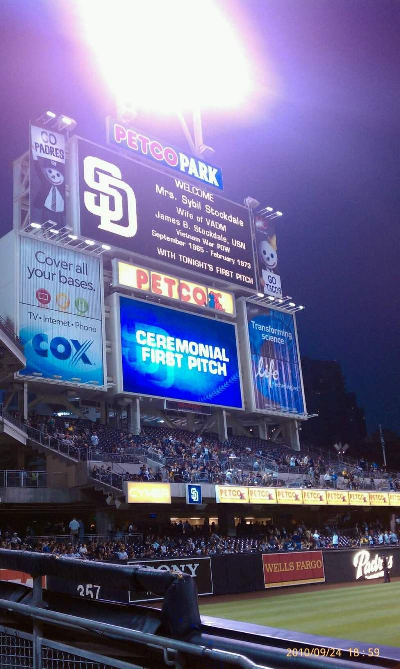 Seating view for PETCO Park Section 122 Row 7 Seat 12
