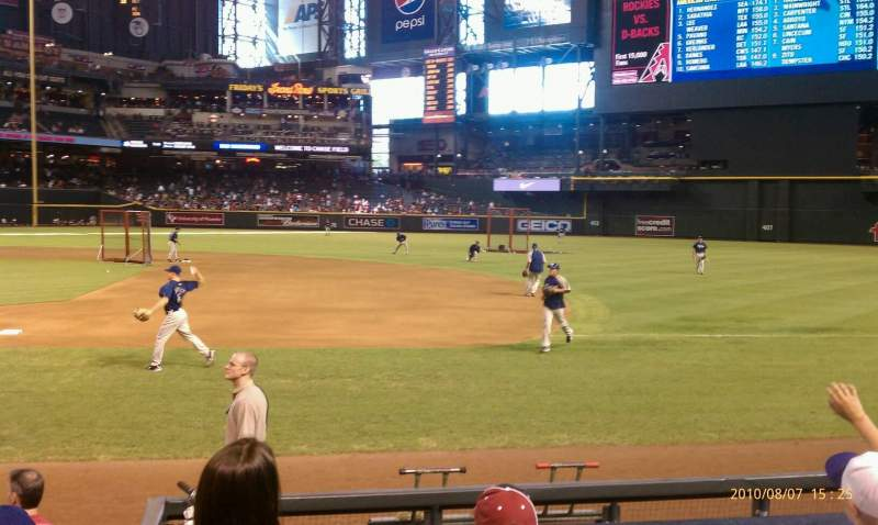 Seating view for Chase Field