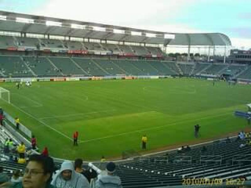 Seating view for Dignity Health Sports Park Section 116 Row U Seat 19